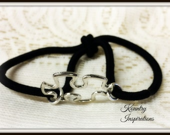 Ponytail Holder/ Hair Elastic Tie/Autism Bracelet / Pony Tail Holder/Arm Candy Hair/Bracelet / Pony Tail Holder (Ready to Ship)
