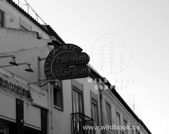 Vintage Street Sign, Black And White Photography - Wallpaper,Wall Art - Print Photo,Fine Art Print,Postcard,Poster,Image,DIN A4 -travel city