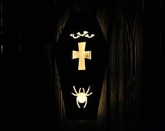 Halloween Casket LED Sign