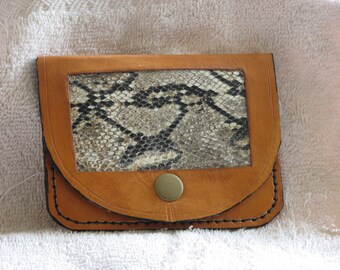 Coin purse w/ Snake insert panel 300