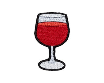 Wine Patch Iron On Embroidered Patches Applique Embroidery • Emoji Wineglass Red Grapes