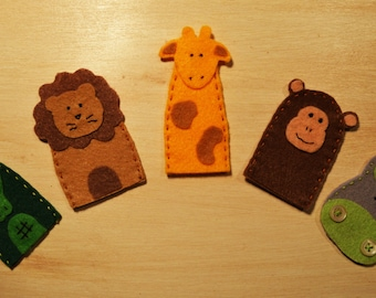 finger puppets jungle animals