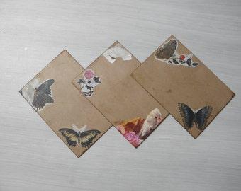 Snailmail envelopes. Vintage style. 3 pieces.  C5