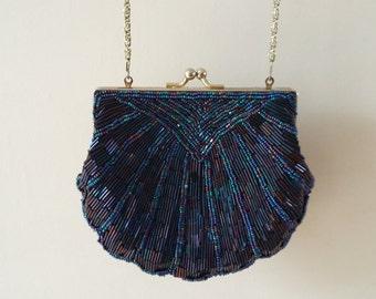 Vintage Beaded Shell Evening Bag