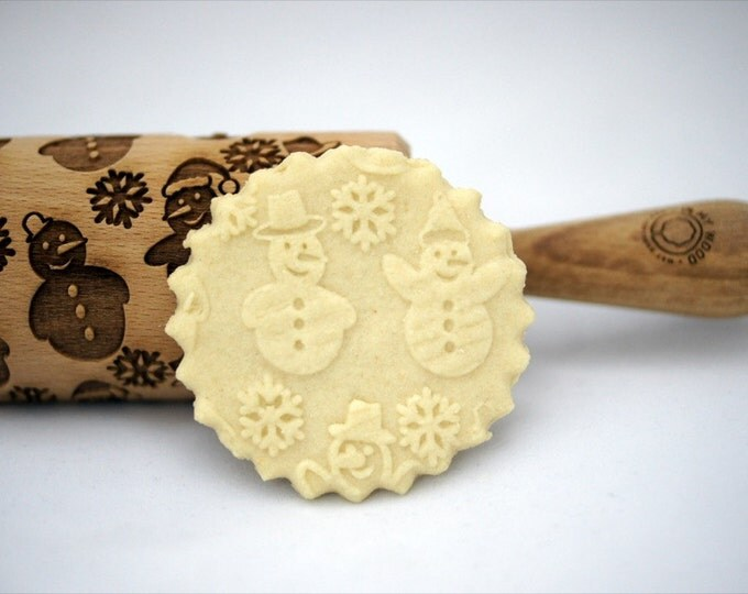 SNOWMAN CHRISTMAS rolling pin, embossing rolling pin, engraved rolling pin for a gift, christmas, gift ideas, gifts, unique, autumn, wedding