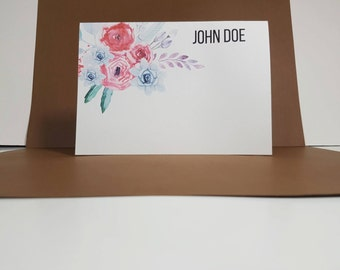 Set of 8 Personalised Note Cards, Personalised Stationary, Personalised Stationary Set, Note Cards, Set of Note Cards