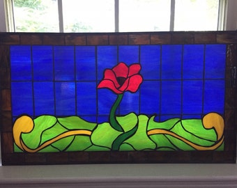 Poppy Stained Glass