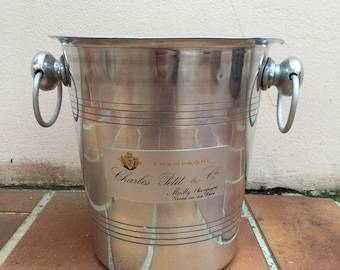 Vintage French Champagne French Ice Bucket Cooler Made in France CHARLES PETIT 2