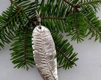 Silver balsam fir pendant