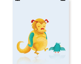 Little Monsters art print