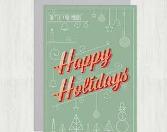 Happy Holidays geometry card