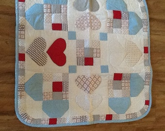 Quilt, wall hanging, hearts