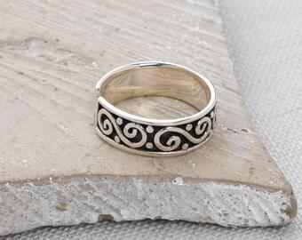 Handmade, Sterling Silver 925 Oxidised Toe Ring