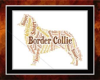 Border Collie Word Art