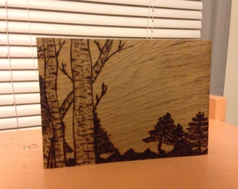 Tree Landscape Woodburning