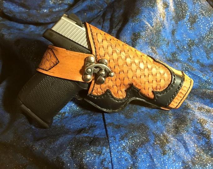 Gun holster thigh western