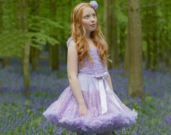 Lilac Sparkly Girls & Baby Tutu Pettiskirt