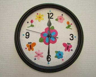 Bold Floral Clock