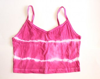 Pink Tie Dye Jersey Skirt & Crop Top