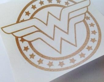 Wonder Woman, GLITTER, Vinyl Decal,