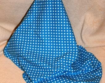 Oversized Blue Polka Dot Recieving/Swaddle Blanket