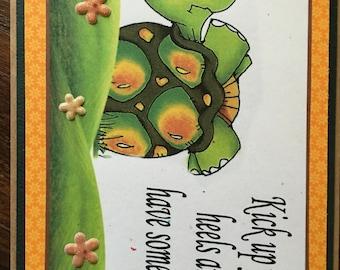 A fun turtle card
