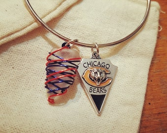 NFL Chicago Bears Seaglass bracelet
