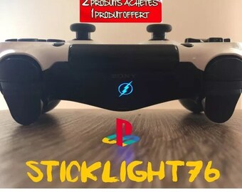 Stickers flash light bar ps4 controller controller
