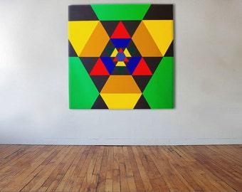 Nucleon - Acrylic on canvas - 100cm x 100cm