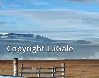 Icelandic Glacier Portrait Photograph on canvas