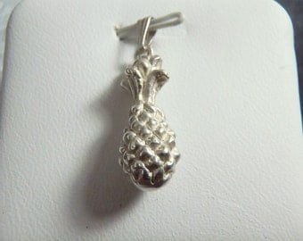Sterling Silver 3D Pineapple Charm RC3