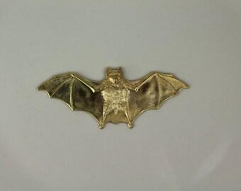 Brass Bat Stamping Finding - #454
