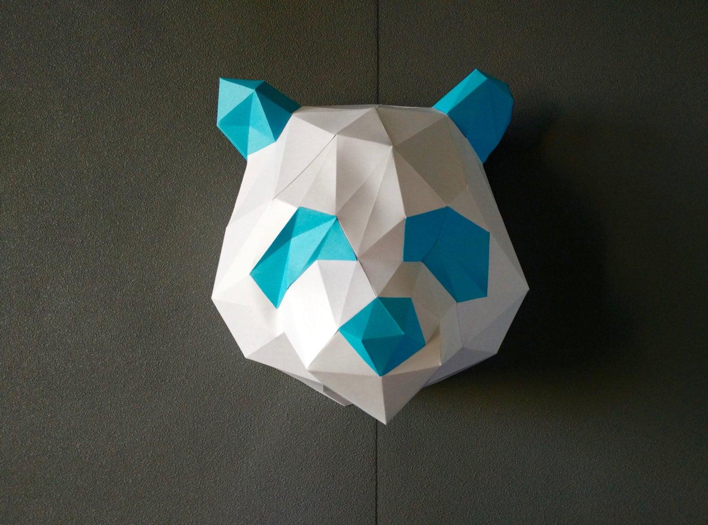 Panda diy kit room decor paper craft wall decor paper for Room decor with paper