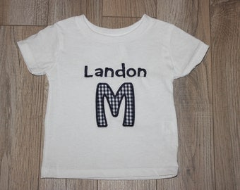 Child Letter Applique with Name