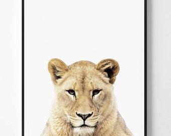 Lioness Print, Lioness printable Wall Art, Safari animal, Animal print, Animal Decor, Safari African Animal Print, Scandinavian printable