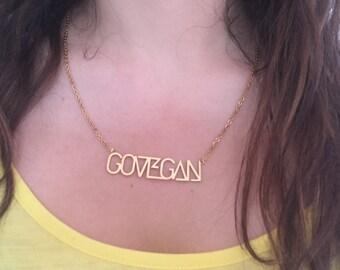 GO VEGAN Necklace - Vegan Jewellery Fashion **Free Postage**