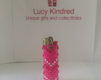 Pink chevron lighter