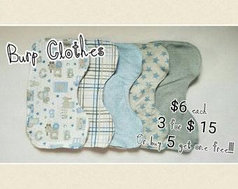 Countoured Baby Burp Clothes