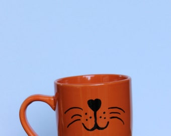 Orange Cat Mouth Mug