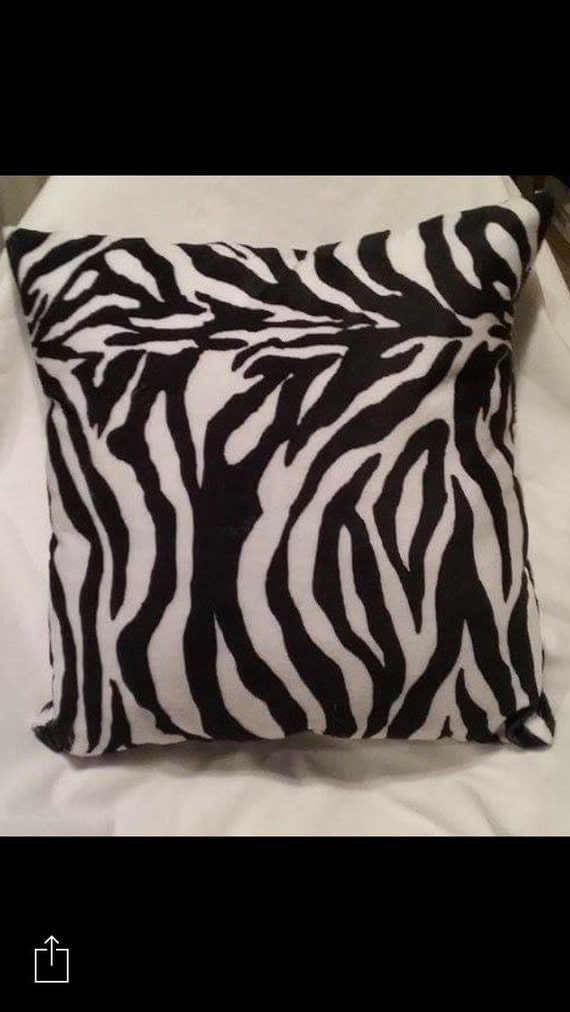 Zebra Print Decorative Pillow Home Decor