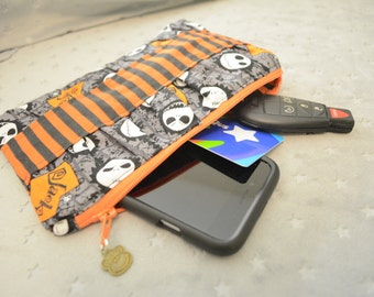 Ready to Ship Ruffle Clutch- Clutch Purse- Make-Up Bag- Zippered Clutch- Holiday Gift- Toiletry Bag- Handbag