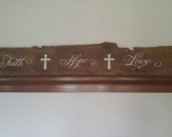 Homemade antique barn wood Sign