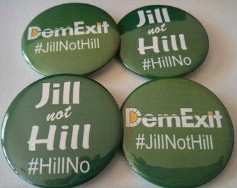 DemExit and Jill no Hill pack! 10 or 20 pack. Jill Stein+Green Party+Socialism