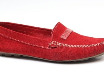 Hand - made leather loafers shoes