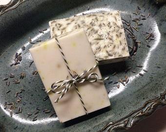 Natural Homemade Lavender Soap