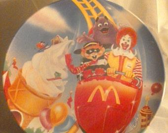 Vintage 1993 Ronald McDonald Theme Park Plate