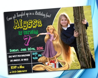 Tangled Invitation - Rapunzel Invitation - Tangled birthday invitation - Tangled birthday party - Rapunzel birthday party