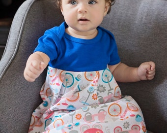 I Want to Ride my Bicycle Baby Maxi Dress
