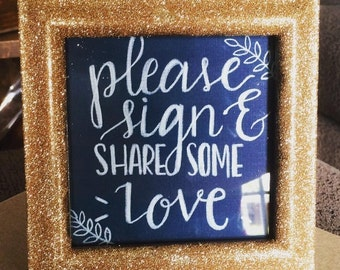 Custom signage for weddings, parties, events