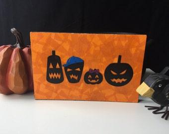 Personalized Halloween decor, custom family sign, Halloween pumpkin decor, pumpkin family sign, personalized Halloween sign, Halloween art